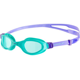 speedo Futura Plus Goggles Kinder violet/spearmint